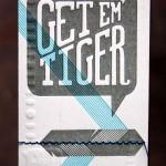 Paper Weight Design Studio Get Em' Tiger Business Cards