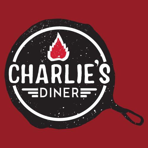 Charlie's diner branding and logo design hand illustrated Get em tiger web design Jacksonville florida