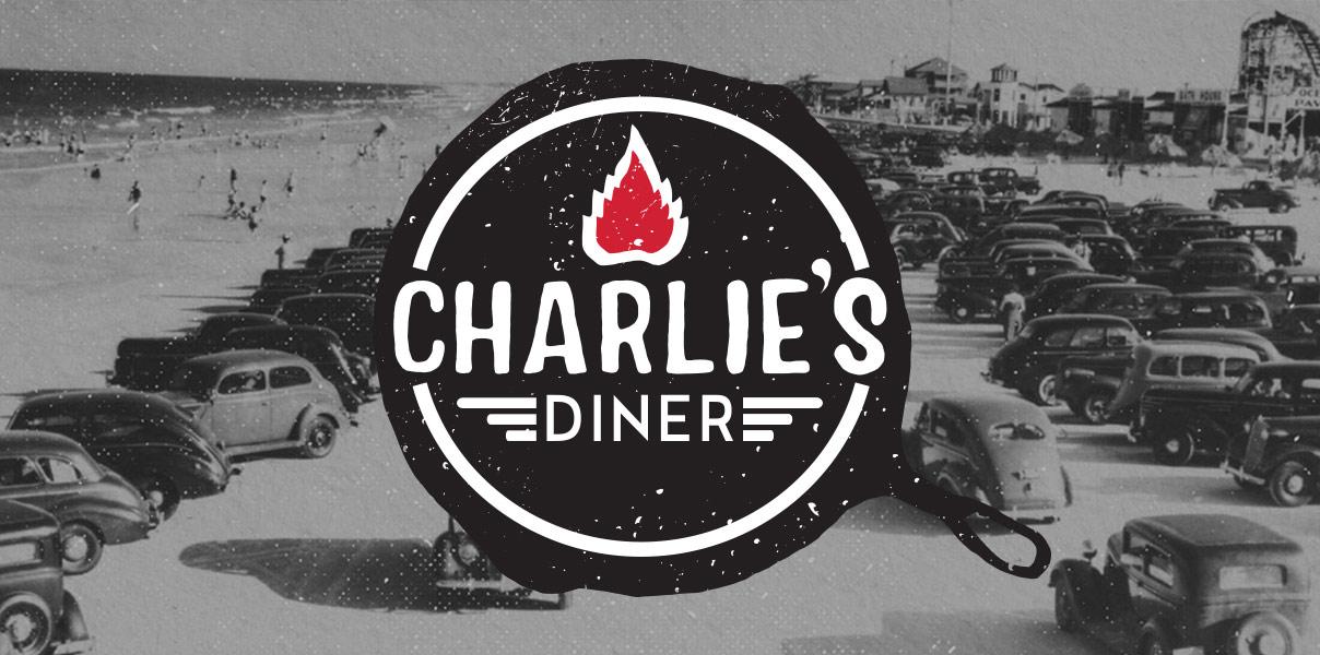 Charlie's Diner Logo Design Tedx Jacksonville florida Mark Kohl web design tiger woods Get em tiger web design Jacksonville florida