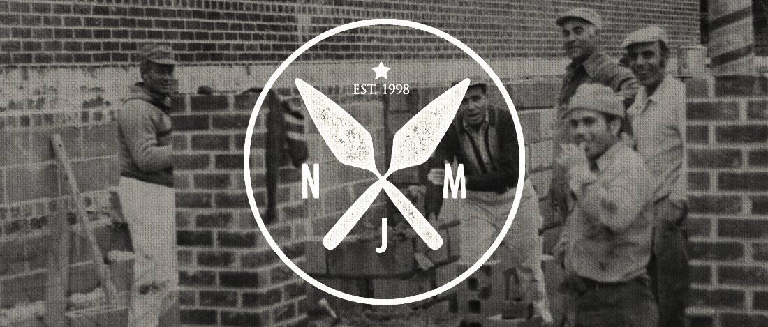 NJM masonry logo design Get em tiger web design Jacksonville florida