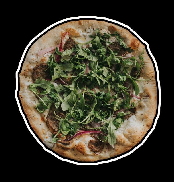 Bruccis pizza portfolio graphic