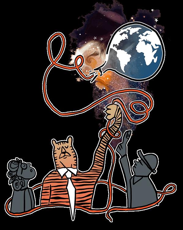 tiger balloon illustration