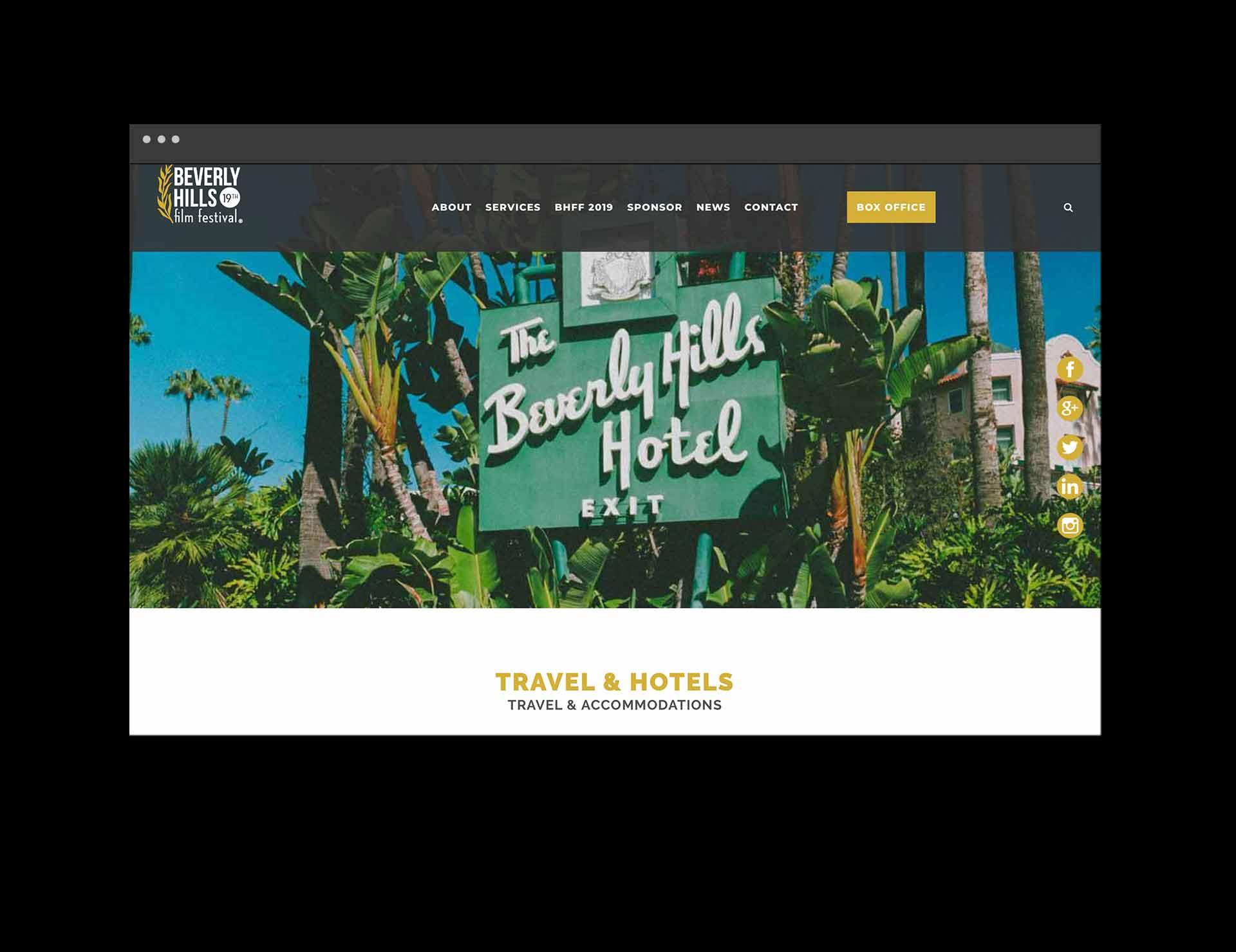 Beverly Hills Hotel web banner
