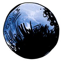 Illustrated moon custom